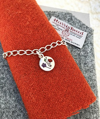 Sterling Silver - Harris Tweed -16mm disc